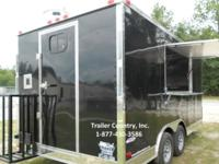 NEW 2015 8.5 X 16 ENCLOSED CONCESSION