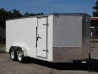 NEW 2015 7X16 ENCLOSED CARGO TRAILER. Up for your