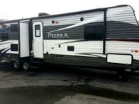 Palomino offers the Puma 32-DBKS travel trailer with a