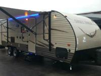 The Cherokee Grey Wolf 26DBH travel trailer by Forest