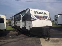 The Palomino Puma 31-BHSS offers a rear bunkhouse, two