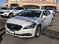 White Frost 2018 Buick LaCrosse Essence FWD 6-Speed