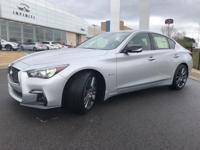 Liquid Platinum 2018 INFINITI Q50 Red Sport 400 RWD