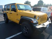 Backup Camera! This 2018 JEEP WRANGLER UNLIMITED SPORT