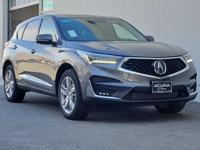 2019 Acura RDX Advance Package AWD. 21/27 City/Highway