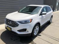 White Platinum 2019 Ford Edge SEL AWD 8-Speed Automatic