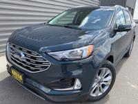 Sea Green 2019 Ford Edge Titanium AWD 8-Speed Automatic