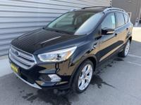 Black 2019 Ford Escape Titanium 4WD 6-Speed Automatic