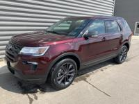 Burgundy 2019 Ford Explorer XLT AWD 6-Speed Automatic