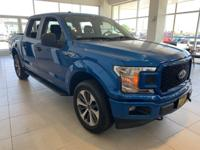 Blue 2019 Ford F-150 XL 4WD 10-Speed EcoBoost 2.7L V6