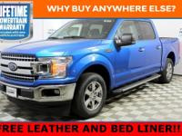 Blue Metallic 2019 Ford F-150 XLT RWD 10-Speed EcoBoost