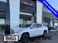 White Frost 2019 GMC Acadia Denali AWD 6-Speed