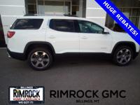 Summit White 2019 GMC Acadia SLT-2 AWD 6-Speed