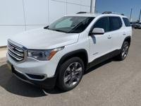 White Frost 2019 GMC Acadia SLT-2 AWD 6-Speed Automatic