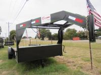This is a NEW 20x82 Gooseneck tandem axle trailer by