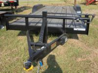 This 20x84 car hauler tandem axle trailer by Cross has