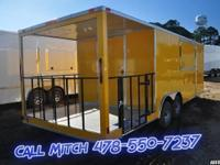 NEW 24' BBQ trailer Yellow - $9,500 8.5x 24, 6' porch/
