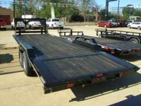 "This is a new 24' x 102"" equipment/car hauler, 9"" drive"