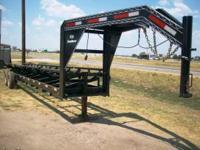 New 24' Gooseneck Hay Hauler. Black, 5 bale capacity, 6