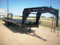 New 25ft gooseneck heavy duty equipment trailer --