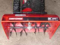 "Like new 28"" craftsman snowblower with electric start"