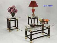 Brand new 3pc coffee table set $69. We sell living