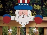 Decorate your fence for the 4th of July with a Solar