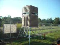 I have a new 4x4 shooting house with a 10ft. tower.