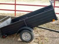New 4x8 Dump Trailer (4+1). Black, Light duty 1,500lb