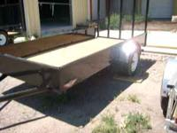 This is an H&H new 2011 5.5x12 solid side trailer, it