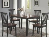 "We have a ""Oakdale 5-Piece Wood Dining Set by Coaster"