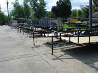 New Big Tex open utility trailer 30AA10. Has full metal