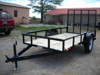 New 5 x 10 Utility Trailer 3500lb American made axle