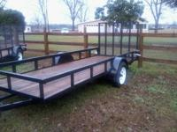 new trailer 5' x14' with pressure treated floor rear