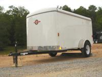 New 5x10 Enclosed Cargo Trailer with back Door and