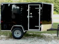 New 5x10 V Nose Enclosed Cargo Craft Utility Trailer