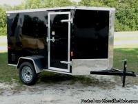 New 5x10 Enclosed V Nose Cargo Craft Utility Trailer