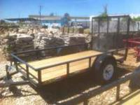 FACTORY MADE TRAILER/NEW / 5x10 UTILITY TRAILER WITH 4'