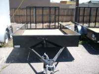 "New H&H 6'4""x10 solid side trailer with 15"" solid"