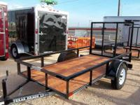 New 6.5' x 12' Utility Trailer with Tailgate Mid Valley