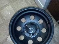 Chevy six bolt Mickey Thompson rims. As close to new as