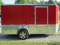 "Features include; - Red exterior color with 24"" sides &"