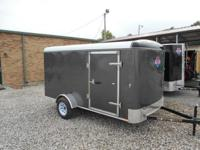 New 6 x 12 Enclosed Cargo trailer for sale, stock