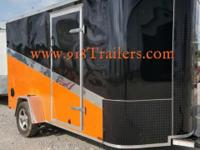 Motorcycle trailer NEW 2015 BIG CHIEF 6 x 12 Enclosed