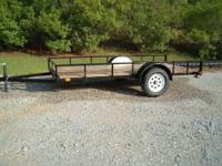 "NEW 6'X12' utility trailer, 2"" ball, lights, 1"" oak"