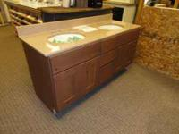 "**NEW**Knotty Alder Double Bowl 60"" Vanity with Drawers"