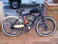 New cruiser bicycle with a new grubee skyhawk 66cc 2