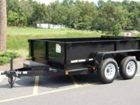 NEW 6 x 10 CARRY-ON DUMP TRAILER 10K GVW, Low Profile,