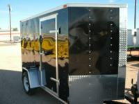 *NEW* 6X10 CARGO TRAILER INCLUDES REAR RAMP, SIDE DOOR