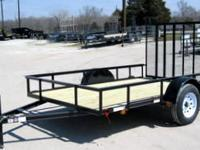 NEW!!! 6x10 Single Axle Utility Trailer with Rear Ramp